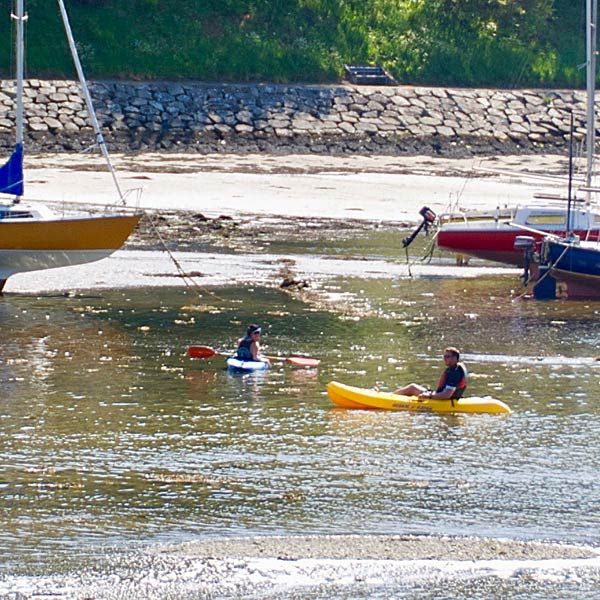 Kayaking at Lower Town harbour, Fishguard