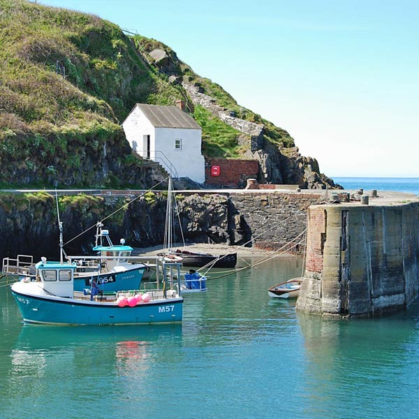 The picturesque harbour at Porthgain