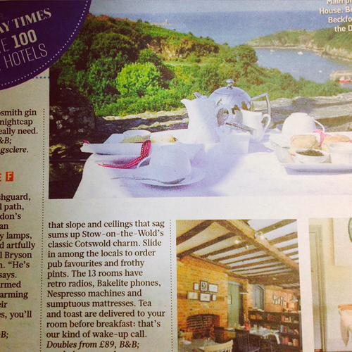 Sunday Times Top 100 Hotels